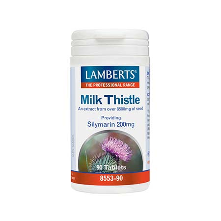 Lamberts Milk Thistle 8500mg (Silymarin 200mg) 90tabs