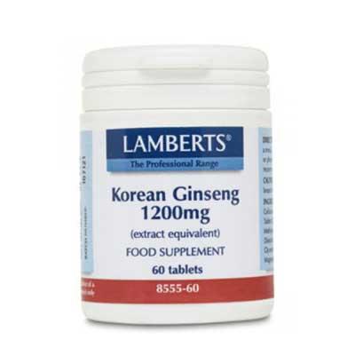 Lamberts Korean Ginseng 1200mg 60 ταμπλέτες