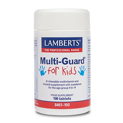 Lamberts Multi-Guard For Kids Παιδικές Πολυβιταμίνες Για Παιδιά 4-14 ετών 100tabs