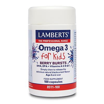 Lamberts Berry Bursts - Omega 3 for Kids 100 caps