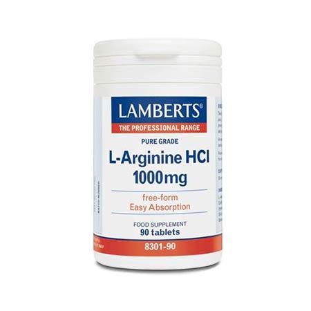 Lamberts L-Arginine HCI 1000mg 90tabs