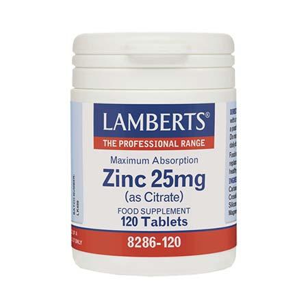Lamberts Zinc Citrate 25mg 120 tabs