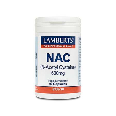 Lamberts Nac 600mg N-acetyl Cysteine 90caps