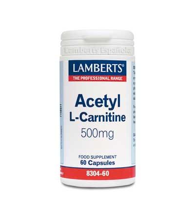 Lamberts Acetyl L-Carnitine 500 mg, 60 caps