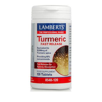 Lamberts Turmeric Fast Release Συμπλήρωμα Διατροφής με Κουρκουμά, 120tabs