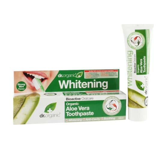 Dr Organic Aloe Vera Toothpaste Whitening 100ml