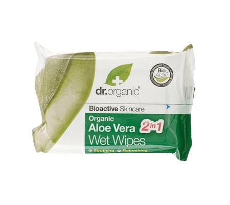 Dr Organic Aloe Vera Wet Wipes 20s