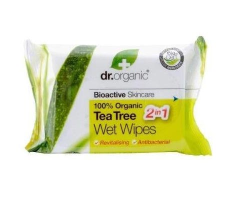 Dr Organic Tea Tree Wet Wipes 20s