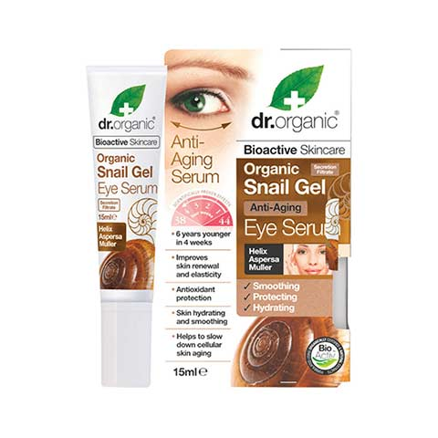 Dr Organic Snail Gel Anti-Aging Eye Serum, 15ml
