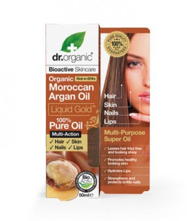 Dr Organic Argan Oil Liquid Gold Pure Oil 50ml