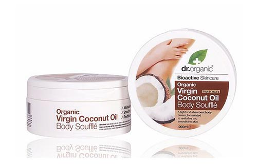 Dr Organic Coconut Oil Body Souffle 200ml