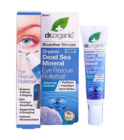 Dr Organic Dead Sea Minerals Eye Rescue Rollerball 15ml