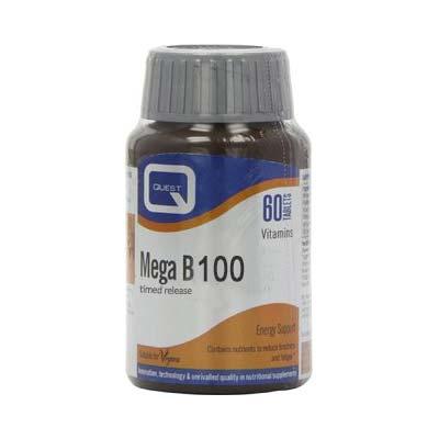 Quest Mega B 100 Timed Release 60 tabs