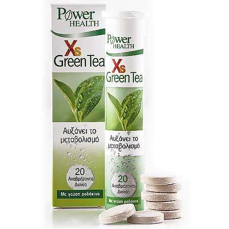 Power Health XS Green Tea Πράσινο Τσάι 20 Αναβράζοντα Δισκία