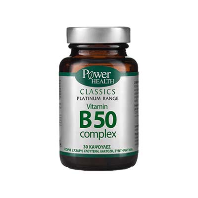 Power Health Classics Platinum  Vitamin B50 complex 30 caps