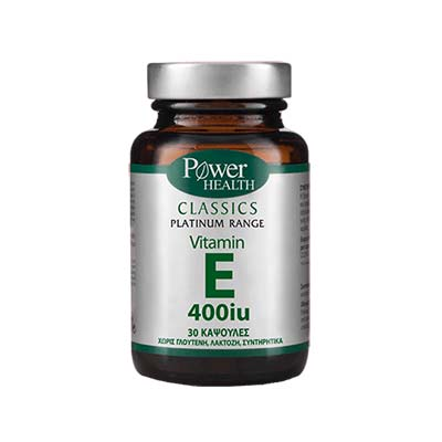 Classics Platinum - Vitamin E 400iu 30s CAPS Power Health