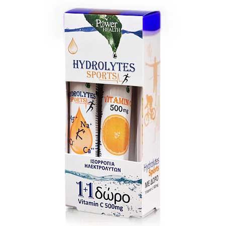 Power Health Hydrolytes Sports + Vitamin C 500mg 2 x 20
