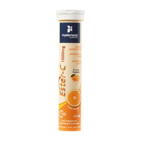 MyElements Ester C 1000mg Effervescent (Orange) 20 tabs