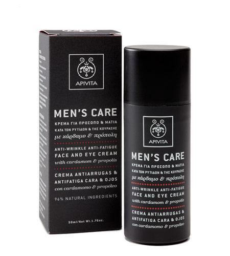 Apivita Mens Care Κρέμα με Κάρδαμο & Πρόπολη (Μαυρο κουτι) 50ml