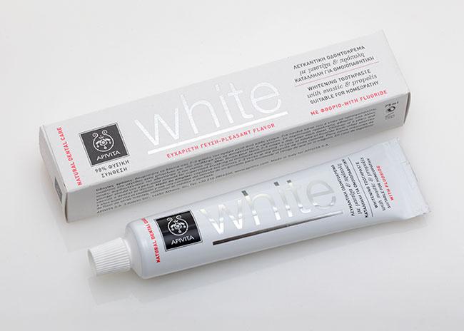 Apivita Οδοντόκρεμα white με μαστίχα & πρόπολη 75ml