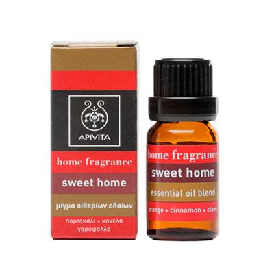 Apivita Home Fragrance Sweet Home Μίγμα από πορτοκάλι, κανέλλα & γαρύφαλλο 10ml