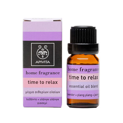 Apivita Home Fragrance Time to Relax Μίγμα από Λεβάντα, Γιασεμί & Υλάνγκ-Υλάνγκ 10ml