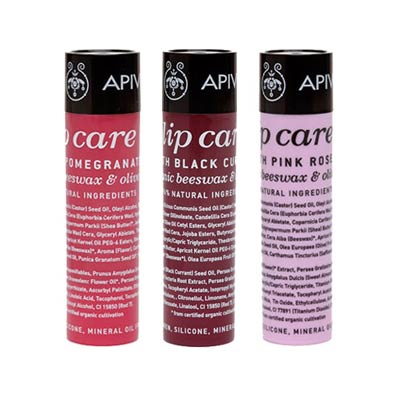 ULTIMATE PROMO SET Apivita 3x Lip care Pomegranate + Black Currant + Pink Rose 3x4.4g