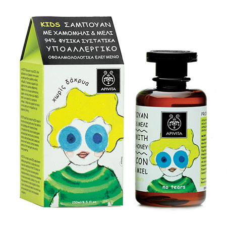 Apivita Kids σαμπουάν με χαμομήλι & μέλι 250ml