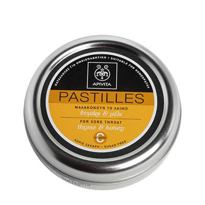 Apivita Παστίλιες με θυμάρι & μέλι 45g