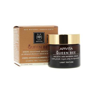 Apivita Queen Bee LIGHT Κρέμα Ημέρας Ολιστικής Αντιγήρανσης Ελαφριάς Υφής με βασιλικό πολτό 50ml