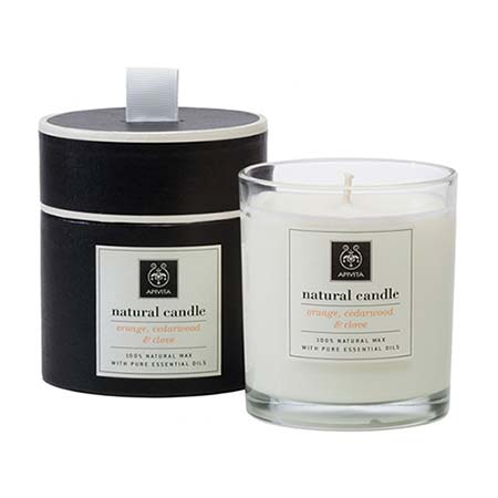 Apivita Candle Αρωματικό Φυσικό Κερί με Πορτοκάλι - Κέδρο - Γαρύφαλλο 235gr