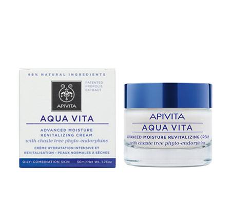 Apivita Aqua vita κρέμα εντατικής ενυδάτωσης και αναζωογόνησης για λιπαρές/μεικτές επιδερμίδες 50ml