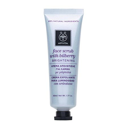 Apivita Face Scrub - Κρέμα απολέπισης για λάμψη με μύρτιλλο 50ml