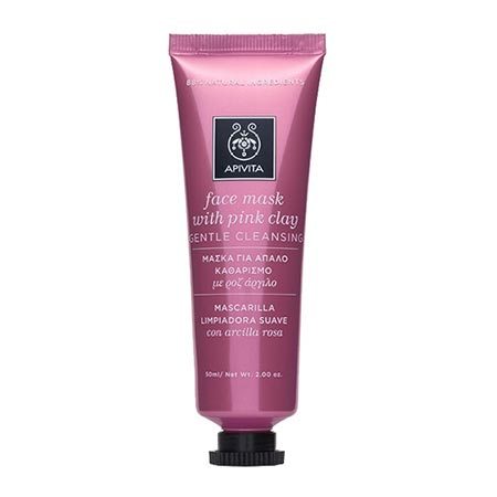 Apivita Face Mask - Μάσκα για απαλό καθαρισμό με ροζ άργιλο 50ml