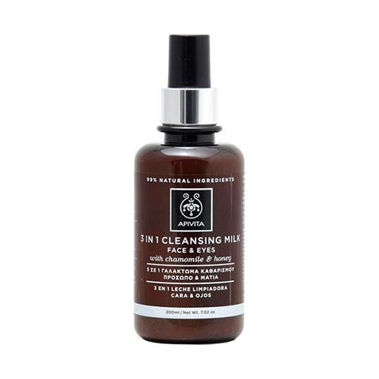 Apivita 3 σε 1 Γαλάκτωμα καθαρισμού για πρόσωπο & μάτια με χαμομήλι & μέλι 200ml
