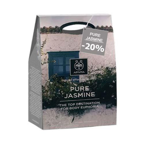 Apivita PROMO Set Pure Jasmine Αφρόλουτρο με γιασεμί 300ml + Γαλάκτωμα Σώματος 200ml με επιπλέον έκπτωση -20%