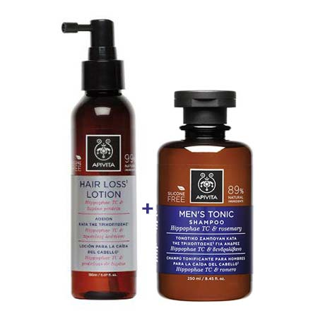 APIVITA Hair Loss Lotion 150ml + ΔΩΡΟ Mens Tonic Shampoo 250ml