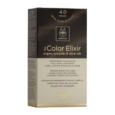 Apivita My Color Elixir Αrgan Avocado & Olive Oils Βαφή Μαλλιών 4.0 Καστανό