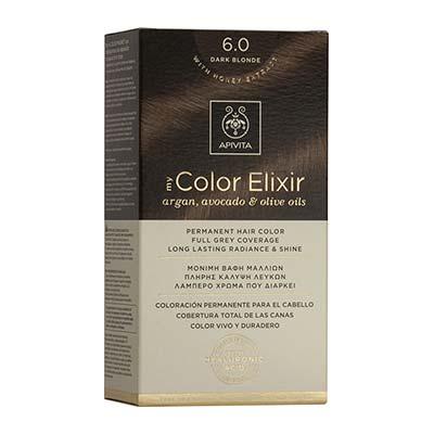 Apivita My Color Elixir Αrgan, Avocado & Olive Oils Βαφή Μαλλιών 6.0 Ξανθό Σκούρο