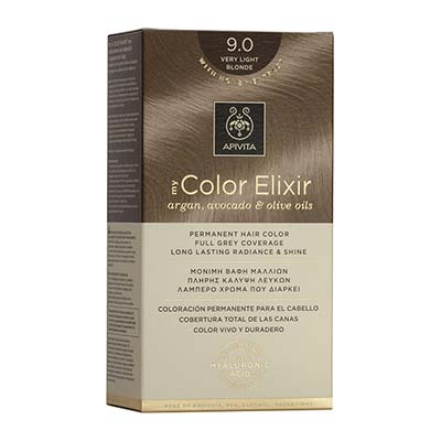 Apivita My Color Elixir Αrgan, Avocado & Olive Oils Βαφή Μαλλιών 9.0 Ξανθό Πολύ Ανοιχτό