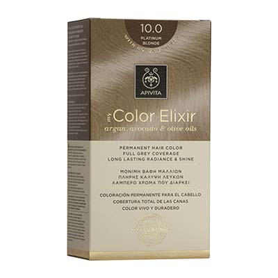 Apivita My Color Elixir Αrgan, Avocado & Olive Oils Βαφή Μαλλιών 10.0 Κατάξανθο