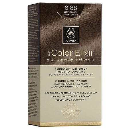 Apivita My Color Elixir Αrgan, Avocado & Olive Oils Βαφή Μαλλιών 8.88 Ξανθό Ανοιχτό Έντονο Περλέ