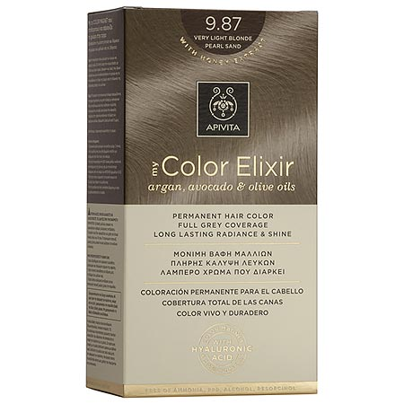Apivita My Color Elixir Αrgan, Avocado & Olive Oils Βαφή Μαλλιών 9.87 Ξανθό Πολύ Ανοιχτό Περλέ Μπεζ