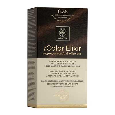 Apivita My Color Elixir Αrgan, Avocado & Olive Oils Βαφή Μαλλιών 6.35 Ξανθό Σκούρο Μελί Μαονί