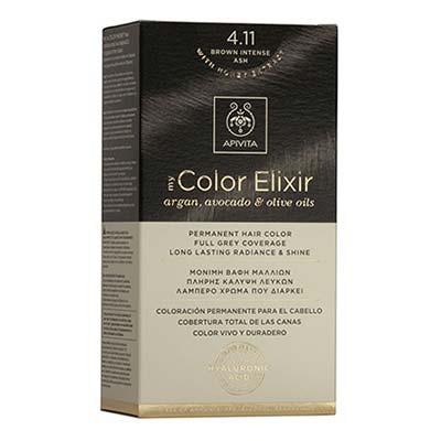 Apivita My Color Elixir Αrgan, Avocado & Olive Oils Βαφή Μαλλιών 4.11 Καστανό Έντονο Σαντρέ