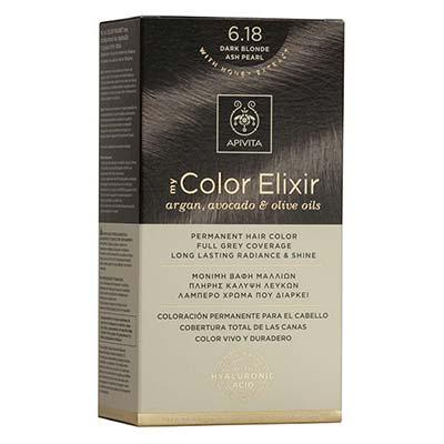 Apivita My Color Elixir Αrgan, Avocado & Olive Oils Βαφή Μαλλιών 6.18 Ξανξό Σκούρο Σαντρέ Περλέ