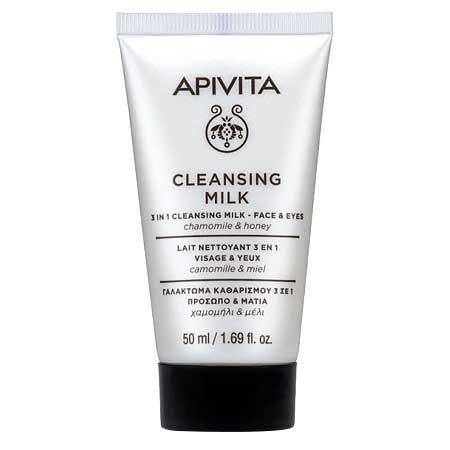 Apivita 3 in1 Face & Eyes Cleansing Milk Γαλάκτωμα Καθαρισμού Προσώπου & Ματιών με Χαμομήλι - Μέλι 50ml