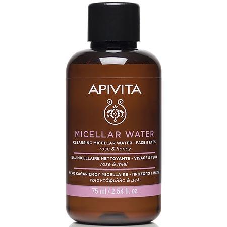 Apivita Cleansing Micellar Water face-eyes rose & honey 75 ml