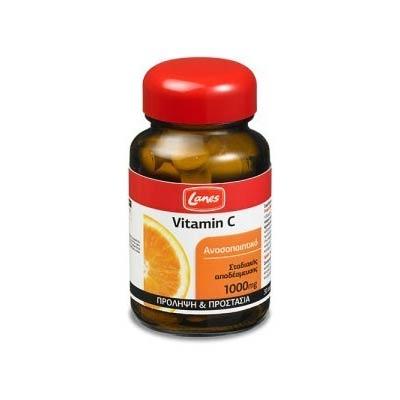 Lanes Vitamin C 1000mg Γεύση Πορτοκάλι 30 ταμπλέτες