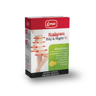 Lanes Kcaligram Day & Night 60 δισκία (30 Πράσινα + 30 Πορτοκαλί)